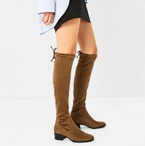 Zara faux-suede over the knee boots